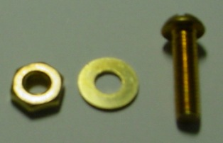 Brass Pan Bolt with Nut and Washer BPB