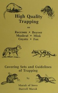 High Quality Trapping Book by Darrell Marak marakbk01