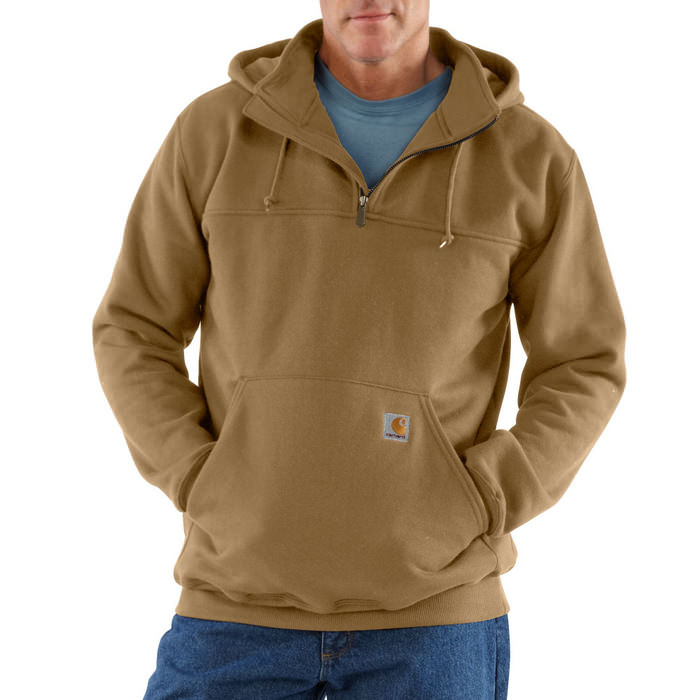 Carhartt Men's Heavyweight Hooded Zip-Mock Sweatshirt #K217
