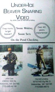 UNDER-ICE BEAVER SNARING by John Lee & Harold Linskey DVD UIBS by JohnLee  Harold Linskey