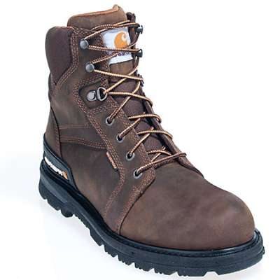 Carhartt Boots: Men's Fudge Brown CMW6150 Waterproof EH Work Boots CMW6150