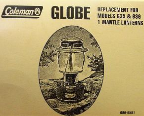 Coleman Replacement Globe #690-0581