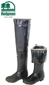 Hodgman Heavy-Duty Rubber Hip Waders - Lug Sole  #W131BLK