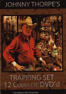 Johnny Thorpe's Complete Trapping Set. 12 Complete DVD's! JT85047