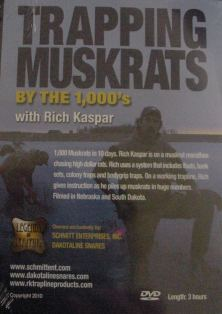 Trapping Muskrats by the 1000's DVD by Rich Kasper trapmusbykasper