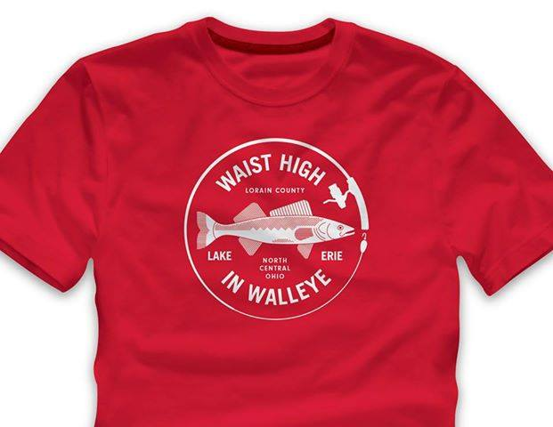 Waist High in Walleye T-Shirt walleyet13