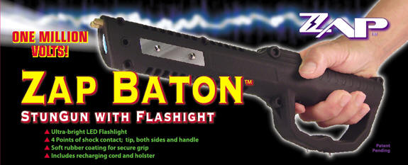 ZAP Baton Stun Gun/Flashlight ZAPBATON