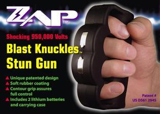 Zap Blast Knuckles Stun Gun ZAPBK950